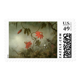 Passion Flowers and Hummingbirds by Martin J Heade Postage Stamp