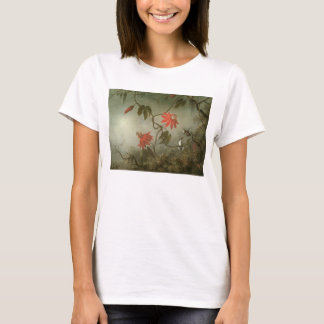 Passion Flowers and Hummingbirds by Martin J Heade T-Shirt