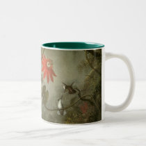 Passion Flowers and Hummingbirds by Martin J Heade Two-Tone Coffee Mug
