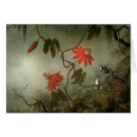 Passion Flowers and Hummingbirds Greeting Cards
