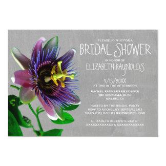 Passion Flowers Bridal Shower Invitations