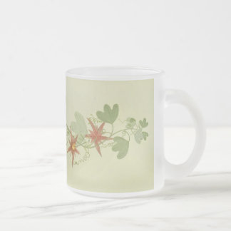 Passion Flowers Frosted Glass Coffee Mug