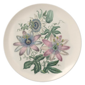 Passion Flowers Serving Dish Dinner Plate