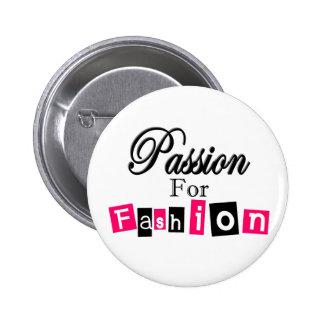 Passion For Fashion Pinback Button