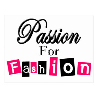 Passion For Fashion Postcard