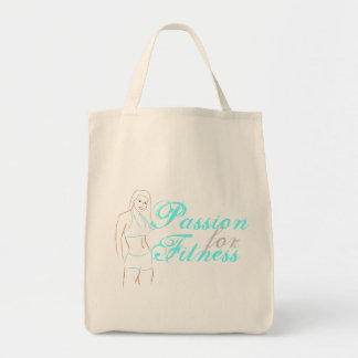 Passion For Fitness Organic Grocery Tote Grocery Tote Bag