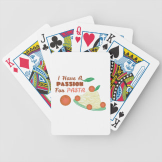 Passion For Pasta Bicycle Playing Cards