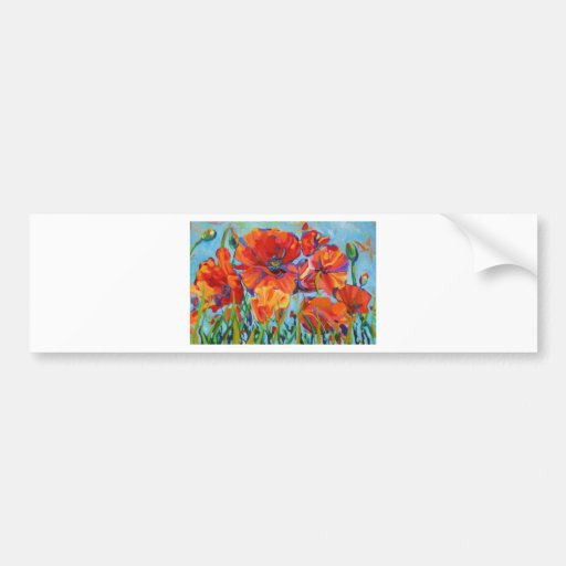 Passion for Poppies Bumper Sticker