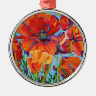 Passion for Poppies Metal Ornament