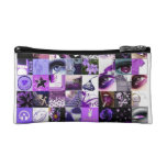 Passion For Purple Collage Makeup Bag
