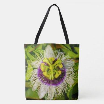 Beach Themed Passion Fruit Flower, Kauai Hawaiian Beach Bag