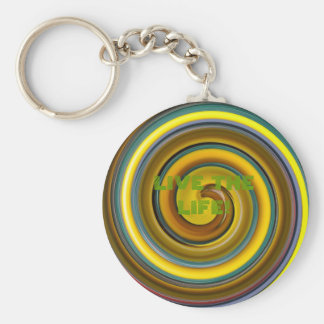 PASSION FRUIT, LIVE THE LIFE AGUARELA! BASIC ROUND BUTTON KEYCHAIN