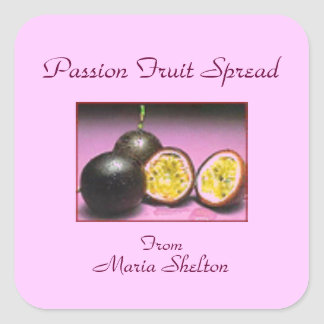 Passion Fruit Preserves Canning Label Custom