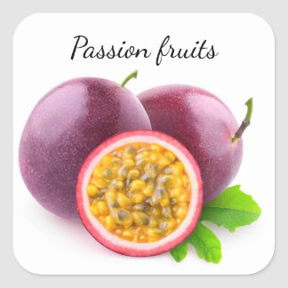 Passion fruits square sticker