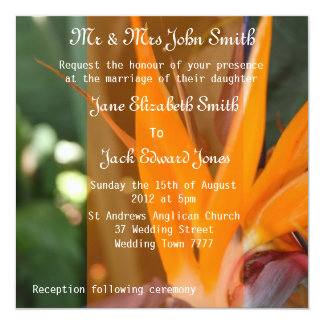 Passion in Paradise tropical  Wedding Invitations