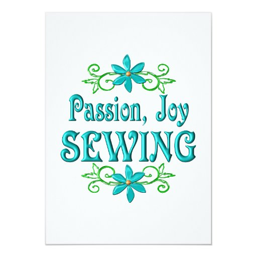 Passion Joy Sewing 5x7 Paper Invitation Card
