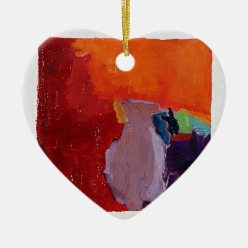 Passion No. 59 Double-Sided Heart Ceramic Christmas Ornament