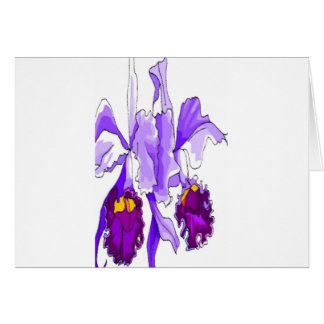 PASSION ORCHIDS CARD
