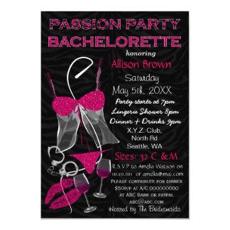 Passion Party Bachelorette, Lingerie Shower Invite