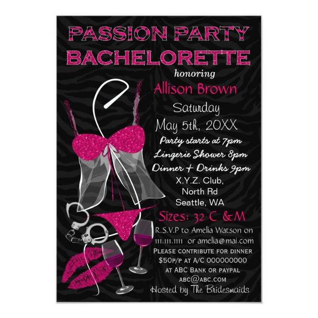passion party bachelorette  lingerie shower invite