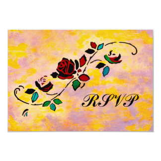 "Passion Pieces RSVP 3.5"" X 5"" Invitation Card"