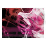 Passion Pink Abstract Blank Card