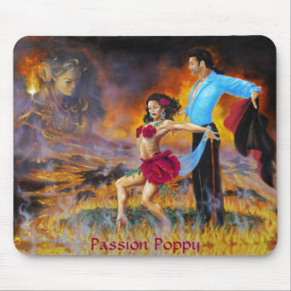 Passion Poppy Mouse Pad
