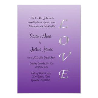 Passion Purple and Silver Wedding Invitation