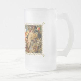 Passion Range Art Decor Gear 16 Oz Frosted Glass Beer Mug