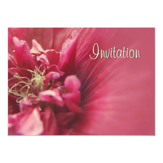 Passion Red Flower birthday party invitation