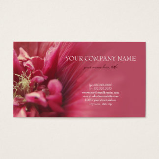 Passion Red Flower Business Card