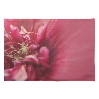 Passion Red Flower Cloth Placemat