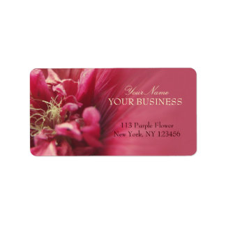 Passion Red Flower Custom Address Labels