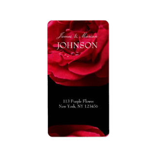 Passion Red Rose Address Label