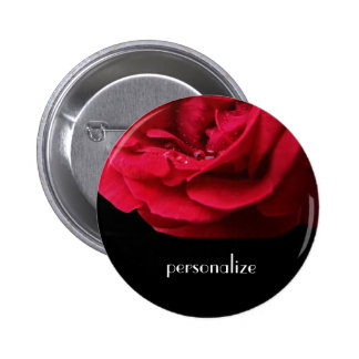 Passion Red Rose Buttons
