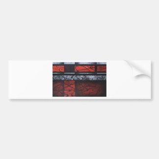 PASSION WAVES OF RED SQUARE LOVE DESIGN BUMPER STICKER