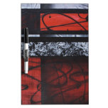 PASSION WAVES OF RED SQUARE LOVE DESIGN Dry-Erase WHITEBOARD