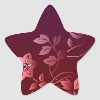 Passionate about Pink Flowers Collection Star Sticker