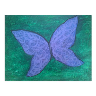 Passionate Butterfly Purple Blue Green Postcard