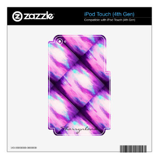 Passionate Butterfly Wings Purple Blue Green iPod Touch 4G Decals
