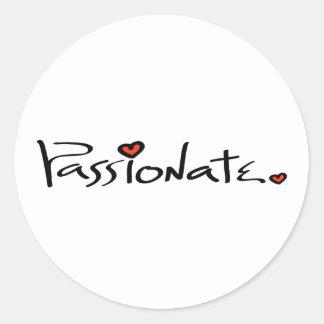 Passionate Classic Round Sticker