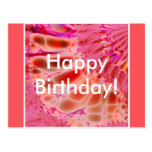 Passionate Coral - Happy Birthday postcard