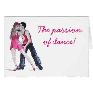 Passionate Dancers Strictly Come Dancing Card