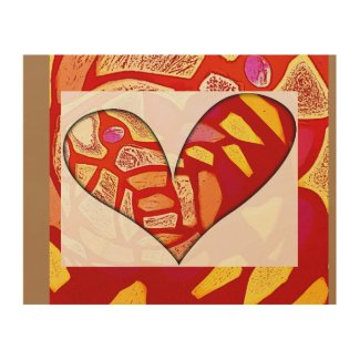 Passionate Heart Is Gold - wood wall fine art prnt Wood Wall Art