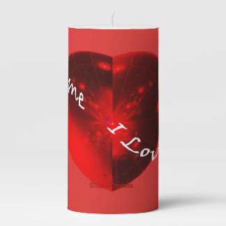 ☼PASSIONATE HEART☼ PILLAR CANDLE
