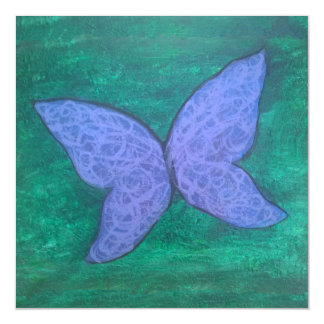 Passionate Jewel Tone Blue Purple Green Butterfly Magnetic Card