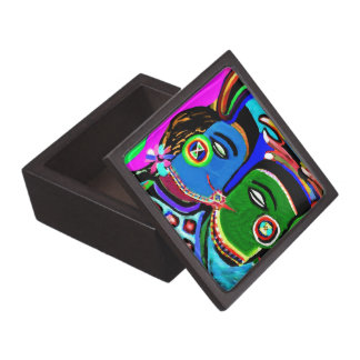 Passionate Kiss - Vintage India Cave Art Style Gift Box