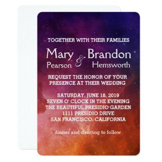 Passionate Love Universe Nebula Wedding Card