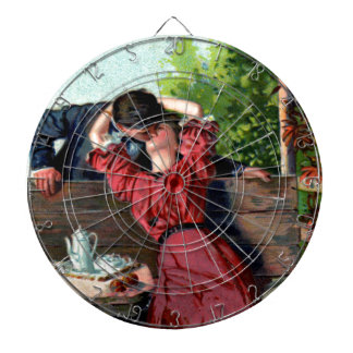 Passionate Lovers Kiss Vintage Image Dart Board
