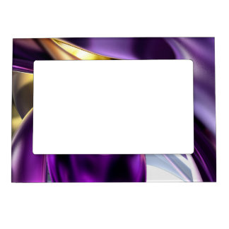Passionate Orchid Abstract Magnetic Picture Frame